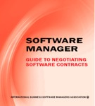 Software Manager: A Guide To Negotiating Better Software License Agreements